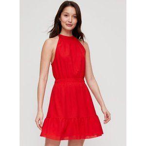 Aritzia Wilfred Effet Halter Mini Dress Small Red